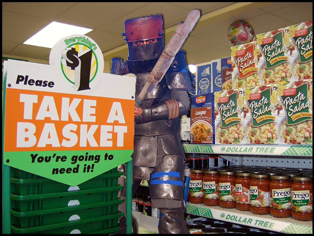 Rust player standing in a store