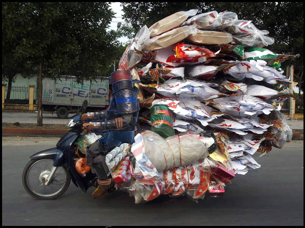 Overpacked Motorcycle