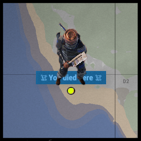 You Died Here Map